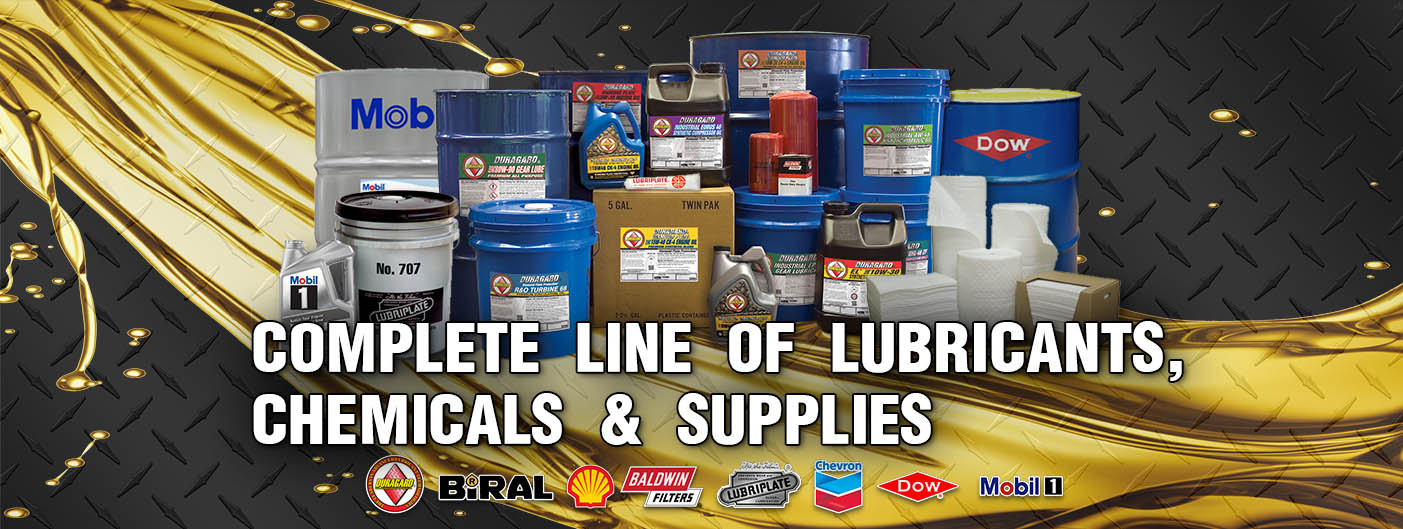 complete line of lubricants, chemicals & supplies