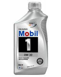 MOBIL 1 0W-30 100% SYNTHETIC, Case of 6 Qt