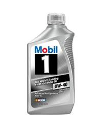 MOBIL 1 0W-40 100% SYNTHETIC, Case of 6 Qt