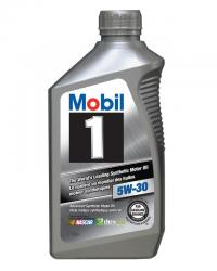 MOBIL 1 5W-30 100% SYNTHETIC, Case of 6 Qt