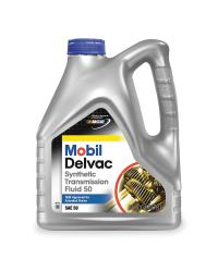 MOBIL DELVAC SYN TRANS FLUID 50wt  100% SYNTHETIC, GL-1 50wt, EATON PS-081, Case of 4 Gallons