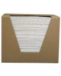 15 in x 18 in White Fine Fiber Oil Only Pads Heavy,Boxed