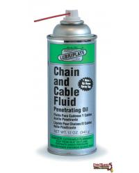 L0135-063 LUBRIPLATE CHAIN & CABLE WIRE ROPE FLUID - 12/12oz Aerosol Cans
