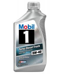MOBIL 1 5W-40 SUV & TURBO DIESEL, 100% SYNTHETIC, Case of 6 Qt