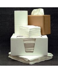 12 in x 13 in White 1/4-Fold, Poly Bagged
